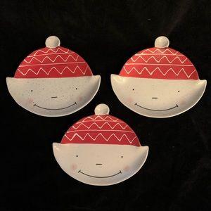 3 Children's plates by Anthropologie